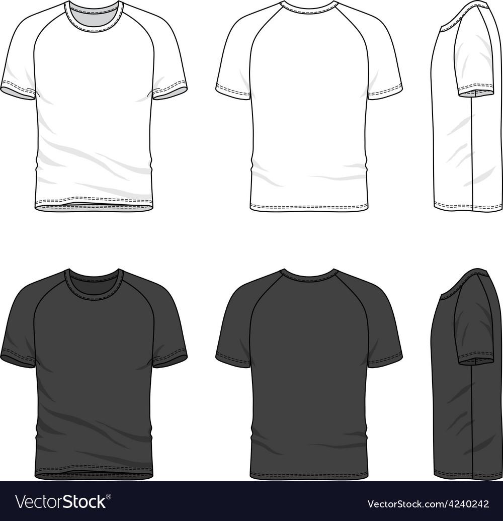 Raglan sleeve t-shirt vector | Price: 1 Credit (USD $1)