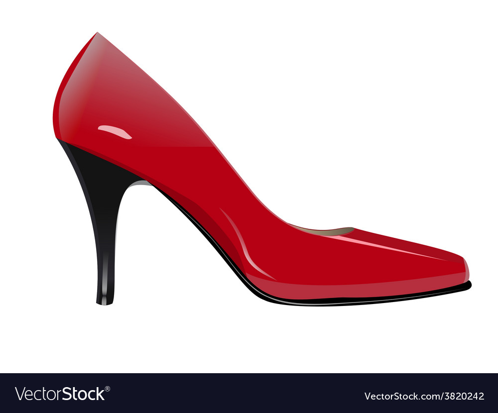 Red high heel vector | Price: 1 Credit (USD $1)