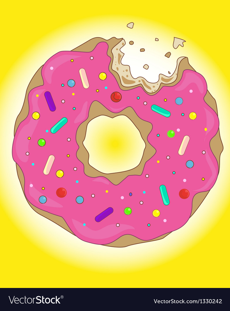 Sweet donut vector | Price: 1 Credit (USD $1)