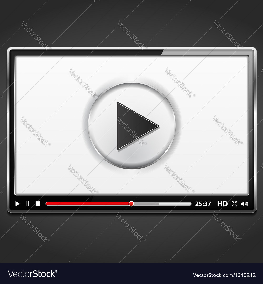 Video player template vector | Price: 1 Credit (USD $1)