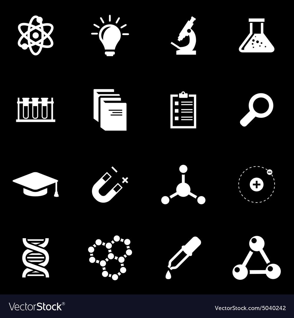 White science icon set vector