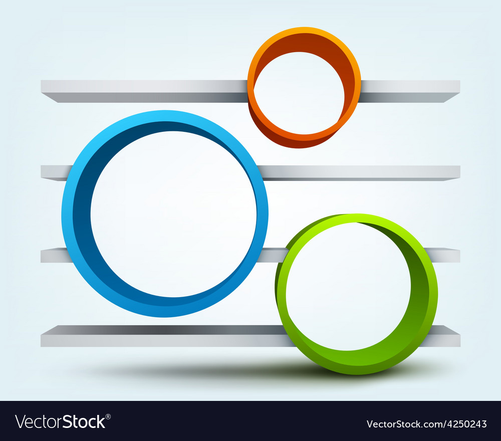 Abstract 3d rings with place for text vector | Price: 3 Credit (USD $3)