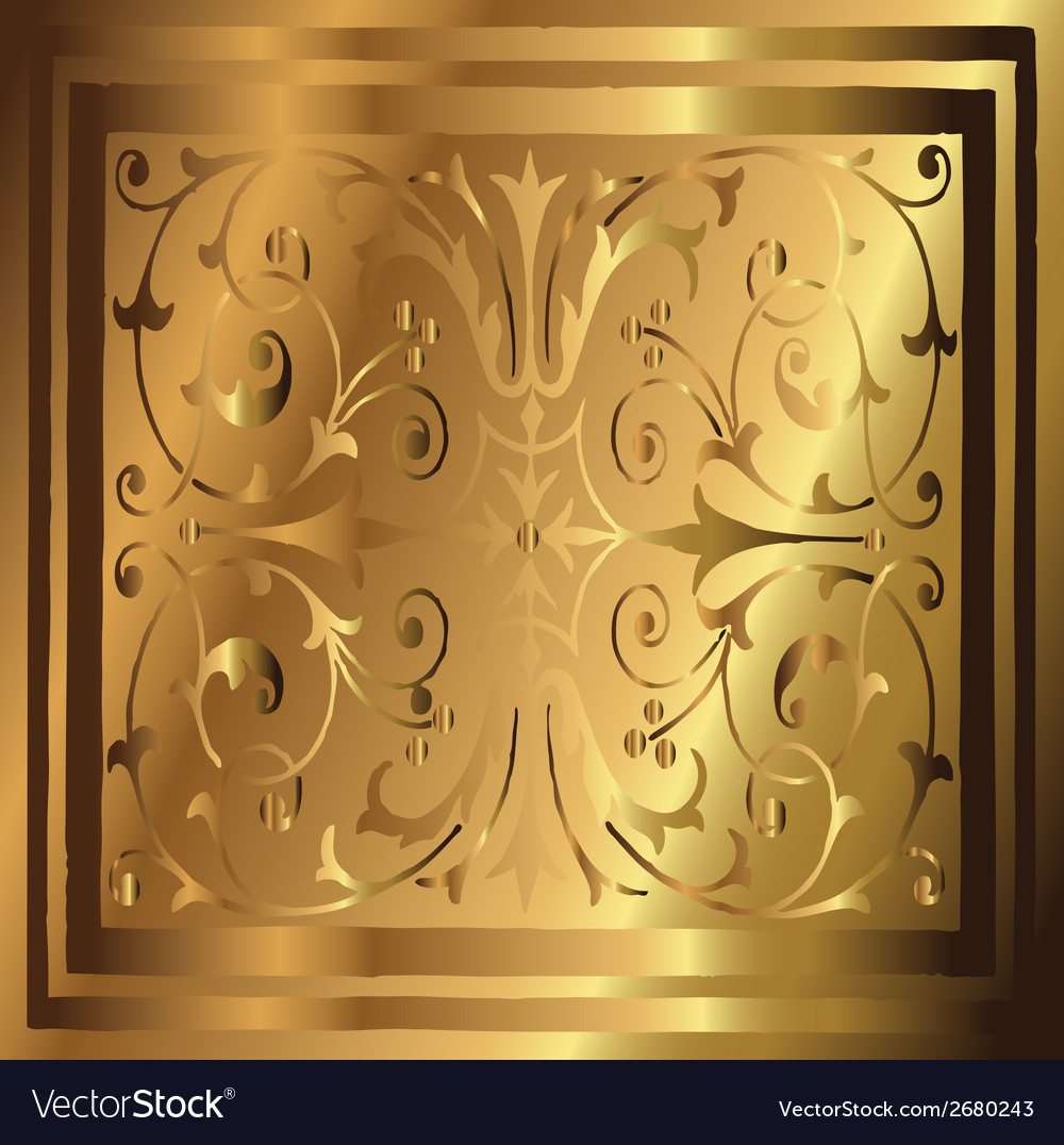 Abstract copper gold background of elegant vintage vector | Price: 1 Credit (USD $1)