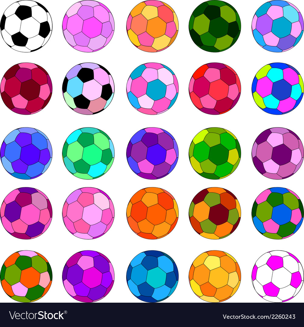 Colorful ball set vector | Price: 1 Credit (USD $1)
