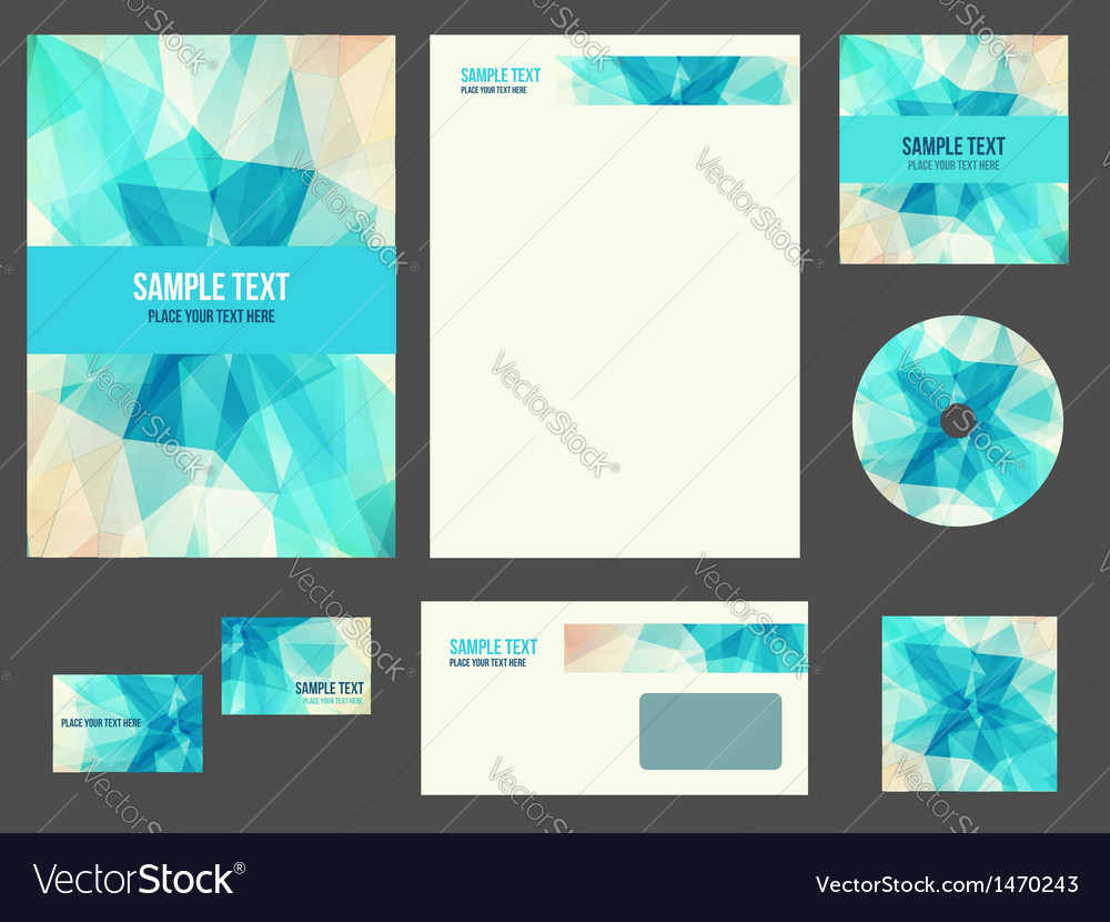 Corporate identity stationery for company vector | Price: 1 Credit (USD $1)