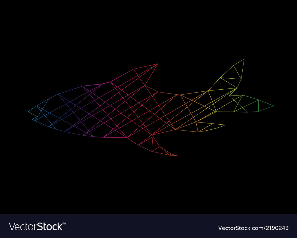 Fish abstract vector | Price: 1 Credit (USD $1)