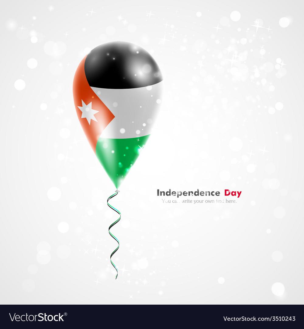 Flag of jordan on balloon vector | Price: 1 Credit (USD $1)