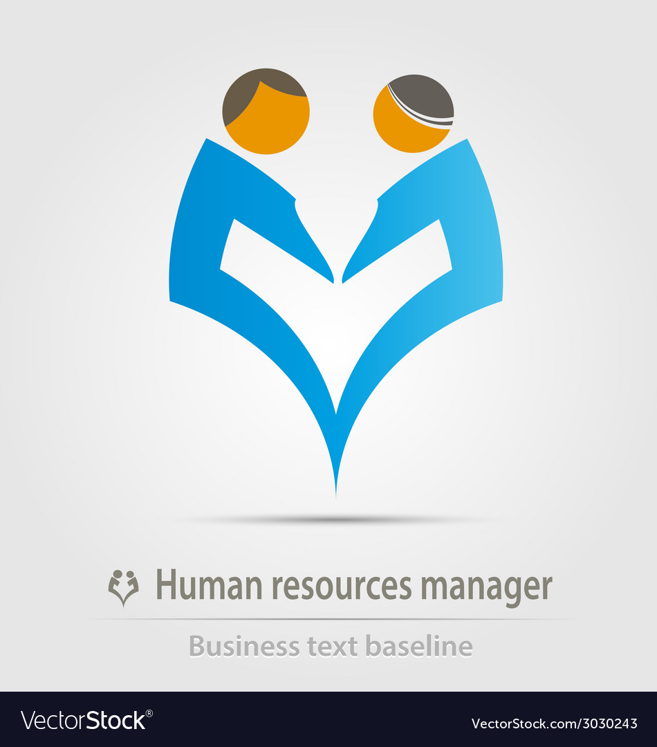Human resources manager business icon vector | Price: 1 Credit (USD $1)