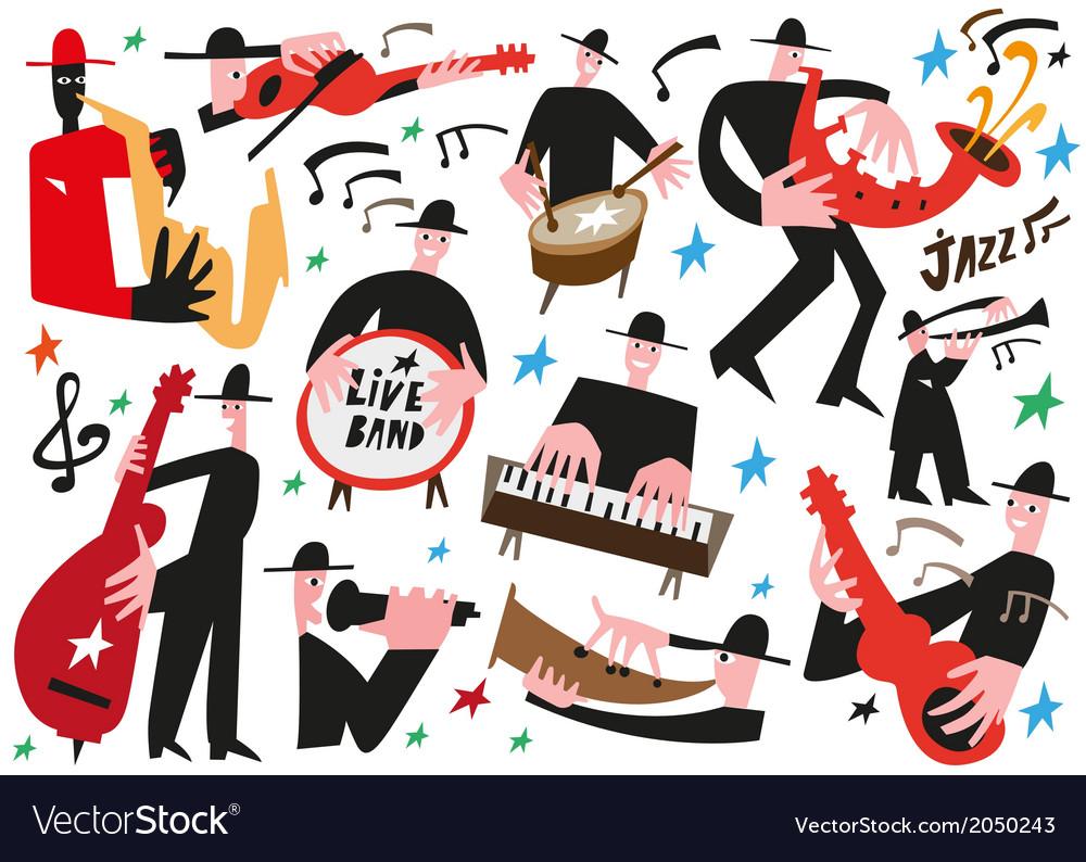 Jazz musicians - vector | Price: 1 Credit (USD $1)