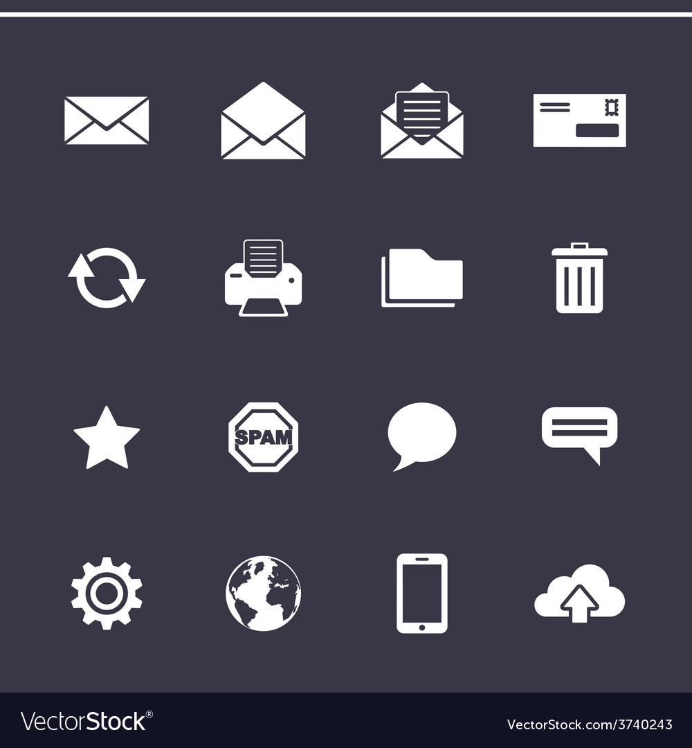 Mail icons set - simplus series vector | Price: 1 Credit (USD $1)