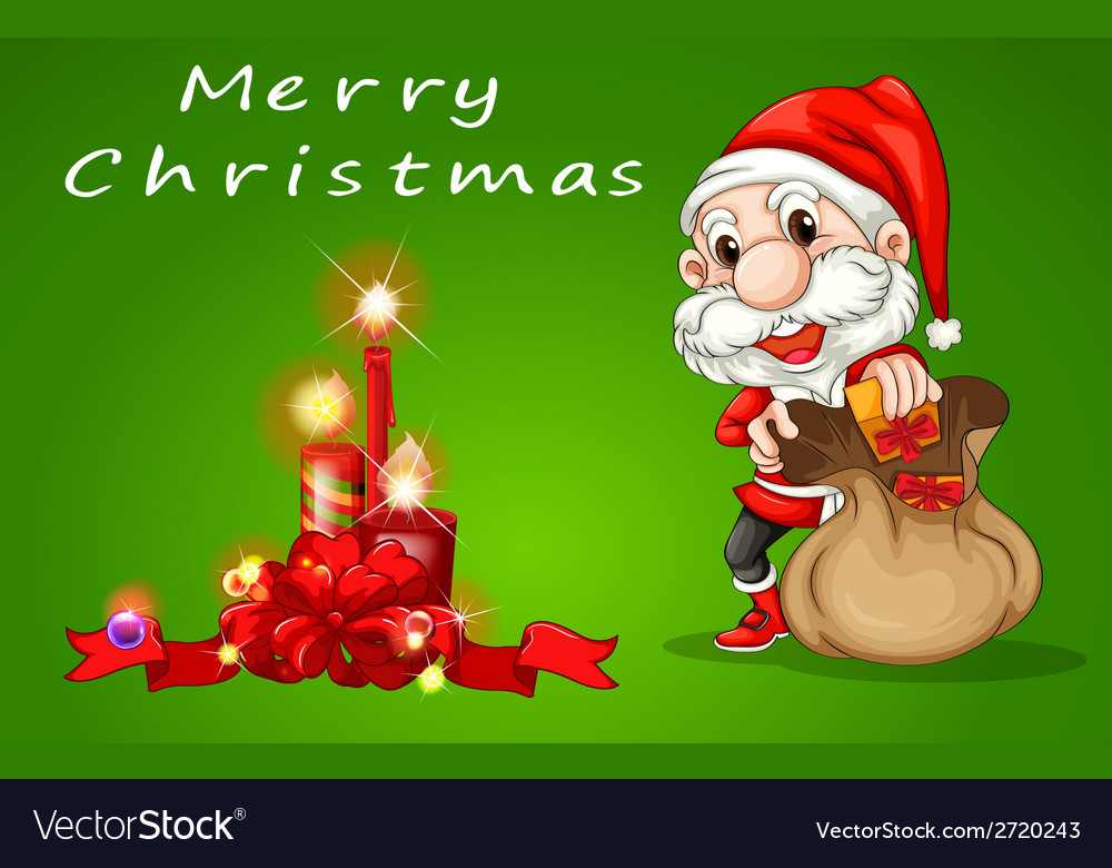 Merry christmas santa vector | Price: 1 Credit (USD $1)