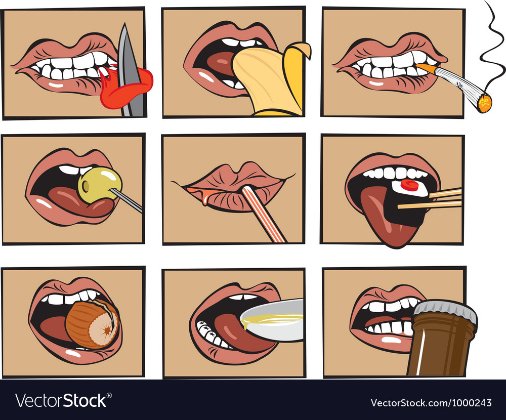 Mouth eats vector | Price: 3 Credit (USD $3)