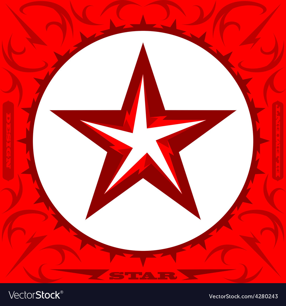 Original abstract star design element vector | Price: 1 Credit (USD $1)