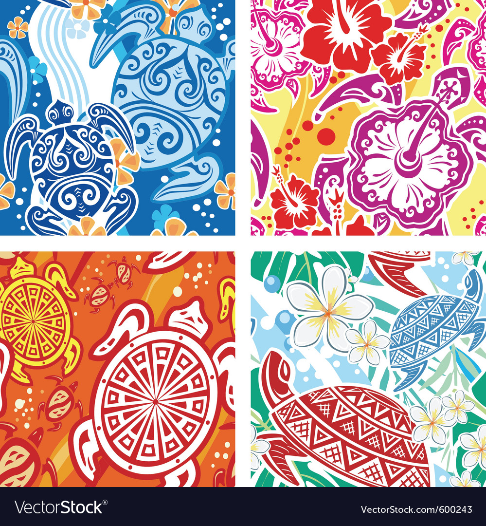 Seamless pattern with turtles vector | Price: 3 Credit (USD $3)