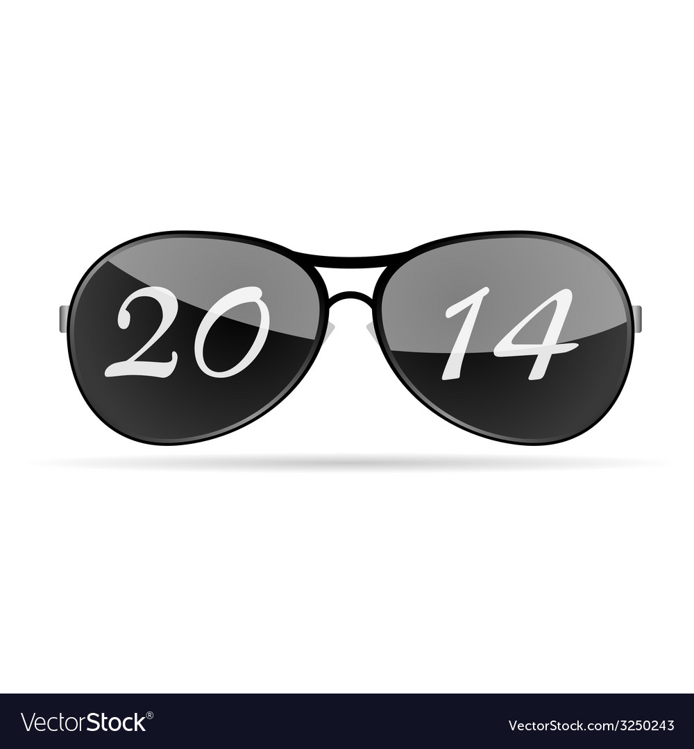 Sunglass with 2014 vector | Price: 1 Credit (USD $1)