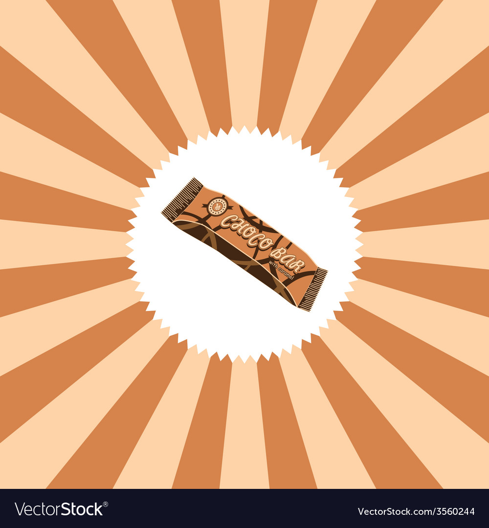 Food and drink theme chocolate bar vector | Price: 1 Credit (USD $1)