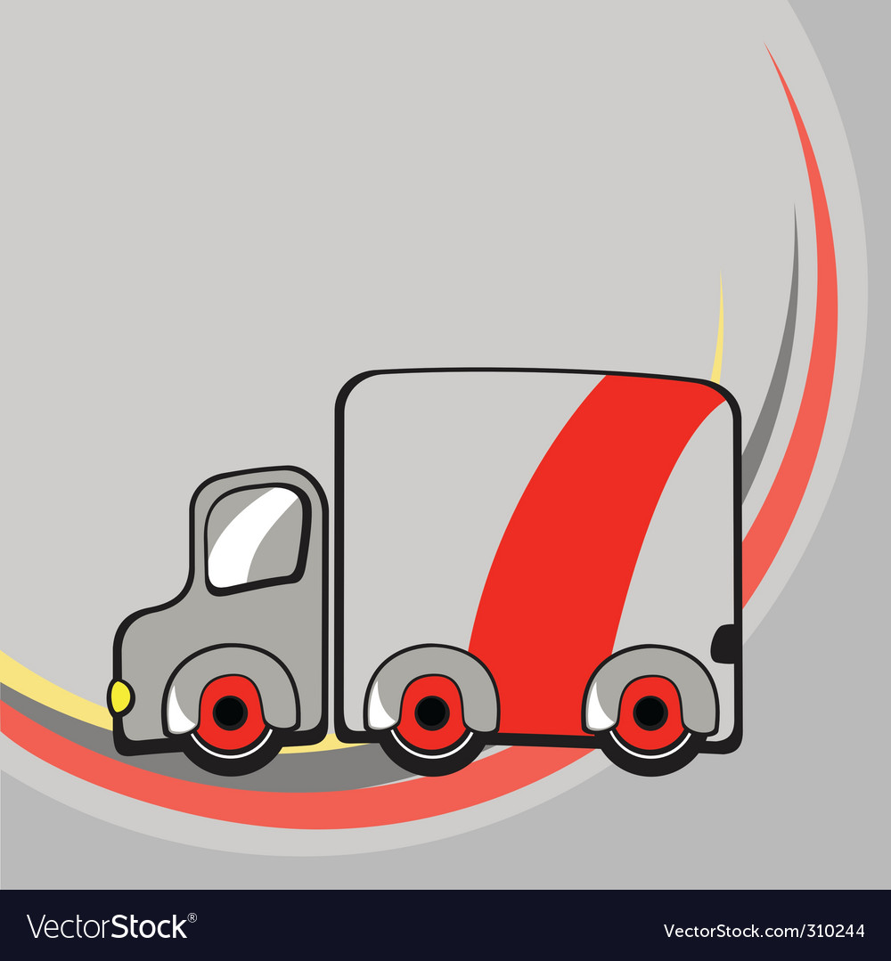 Funny truck vector | Price: 1 Credit (USD $1)