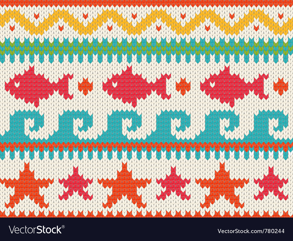 Knitted beach pattern vector | Price: 1 Credit (USD $1)