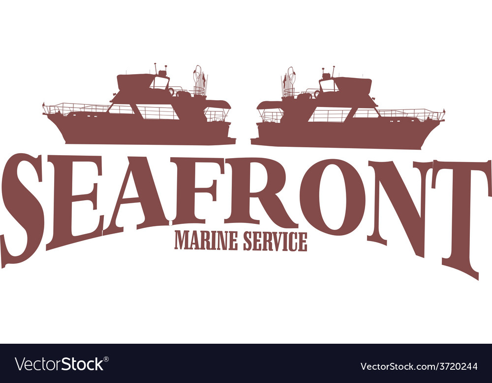 Marine claret red ship vintage retro print m vector | Price: 1 Credit (USD $1)