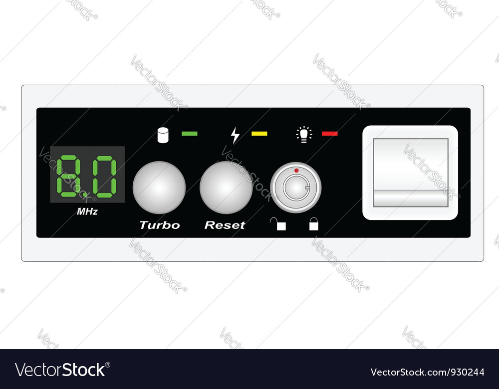 Panel computer vector | Price: 1 Credit (USD $1)