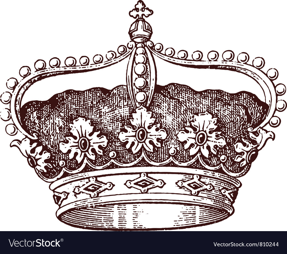 Royal crown vector | Price: 1 Credit (USD $1)