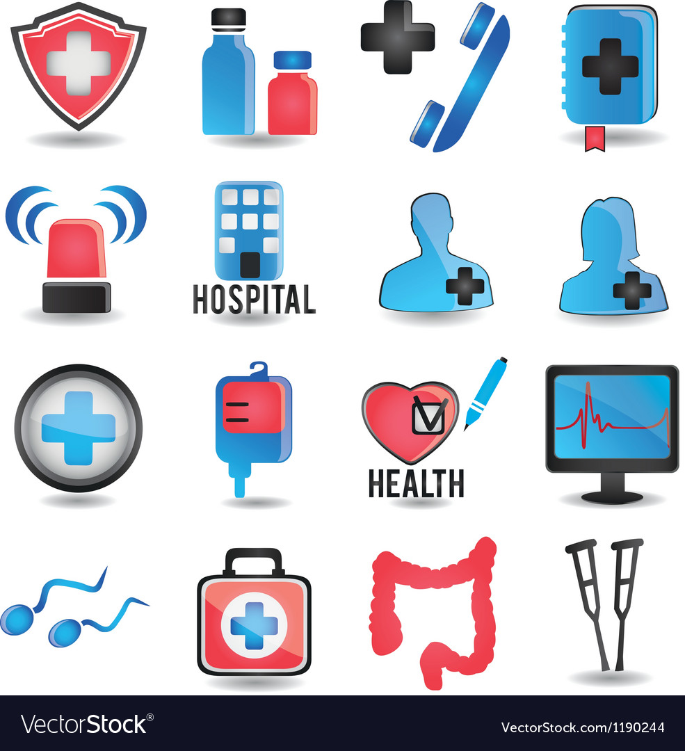 Set of medicine icons - part 1 vector | Price: 1 Credit (USD $1)