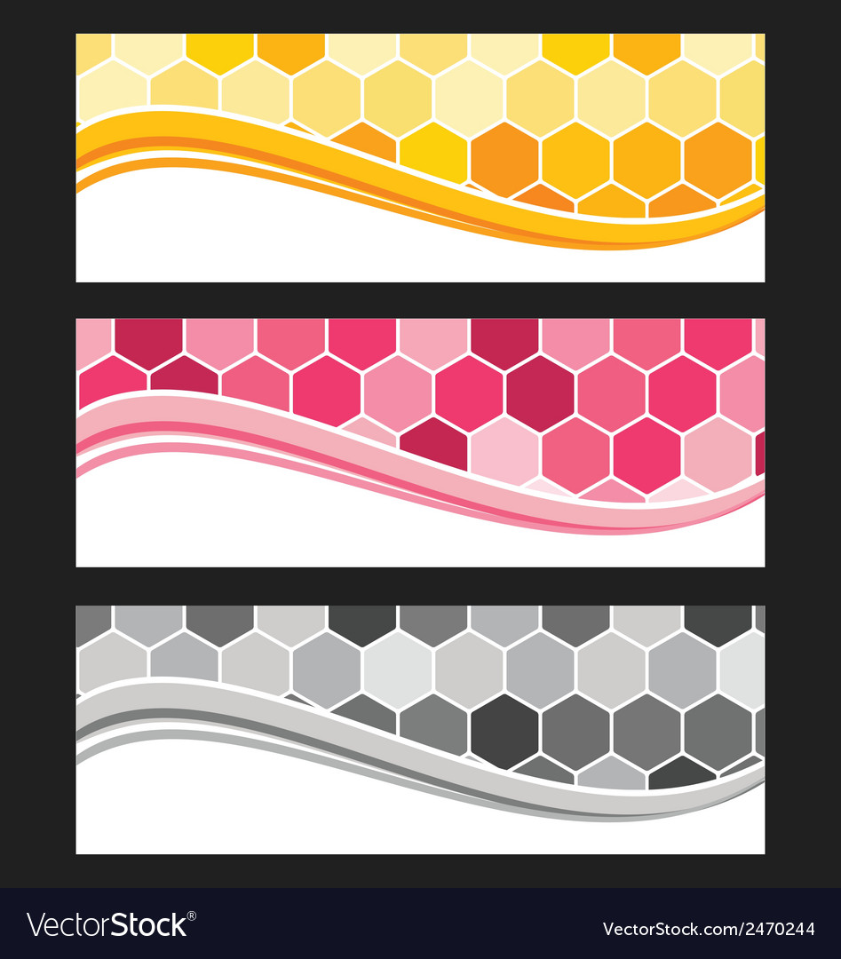 Set of wave background banner or header vector | Price: 1 Credit (USD $1)