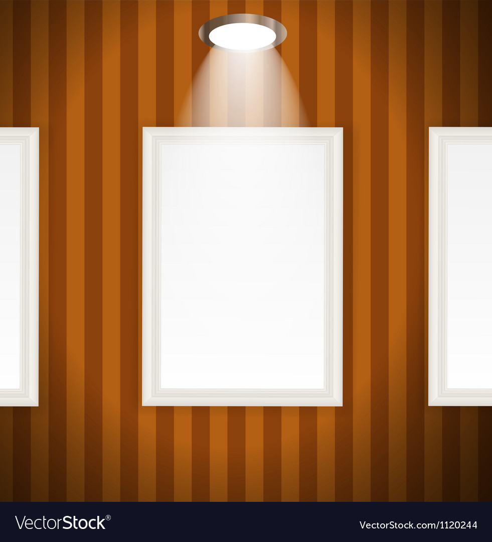 White frames in art gallery vector | Price: 1 Credit (USD $1)