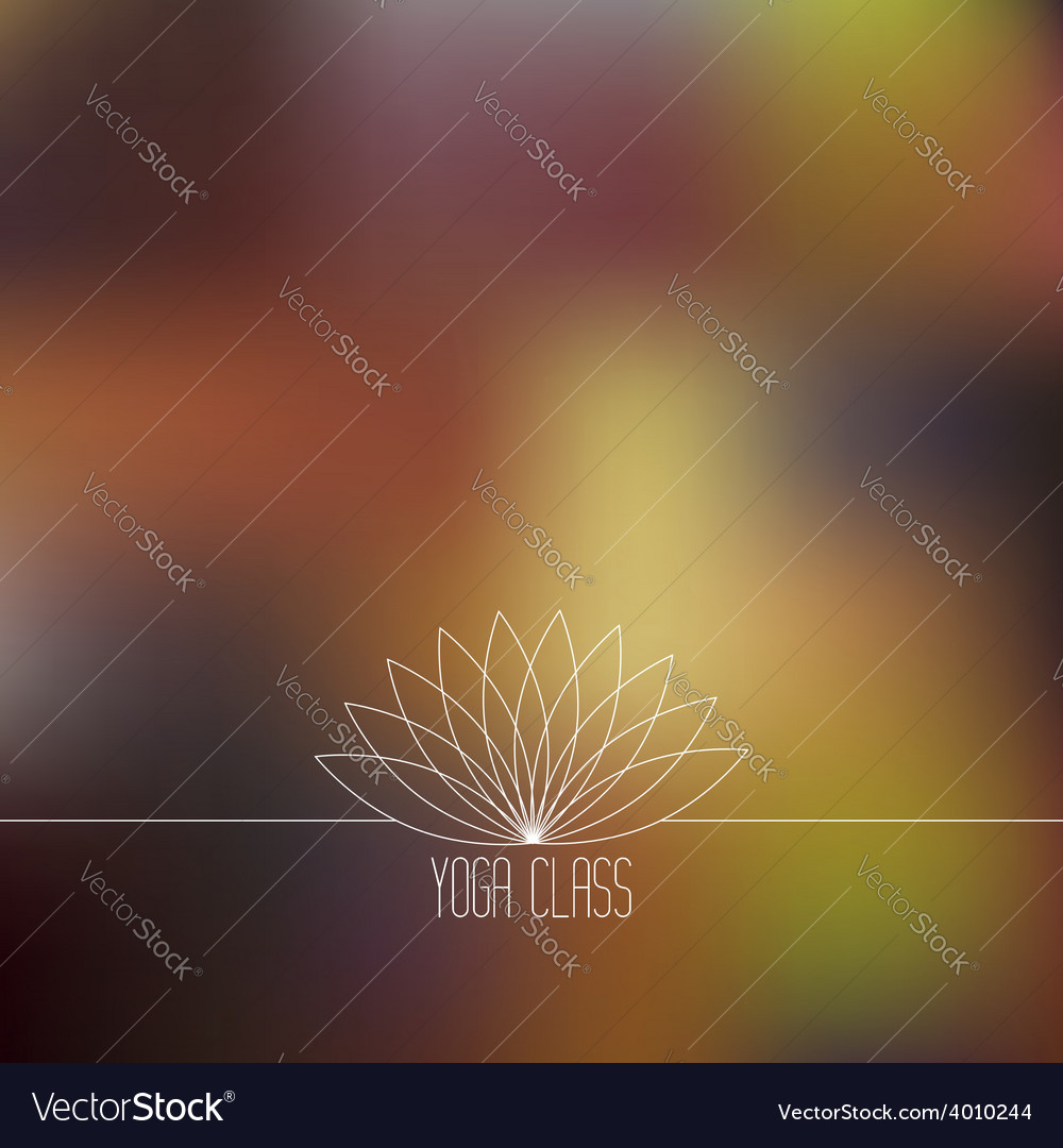 Yoga center logo and inscription vector | Price: 1 Credit (USD $1)