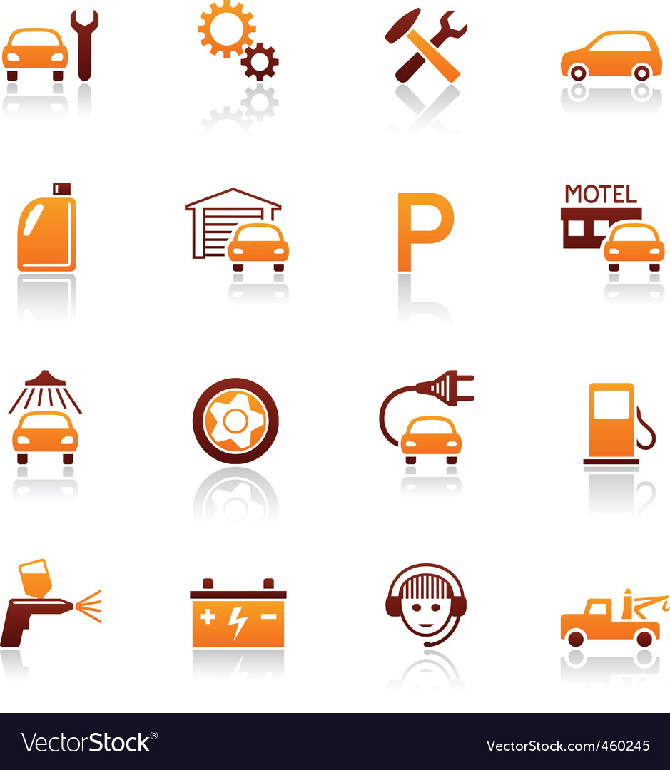 Auto service and repair icons vector | Price: 1 Credit (USD $1)
