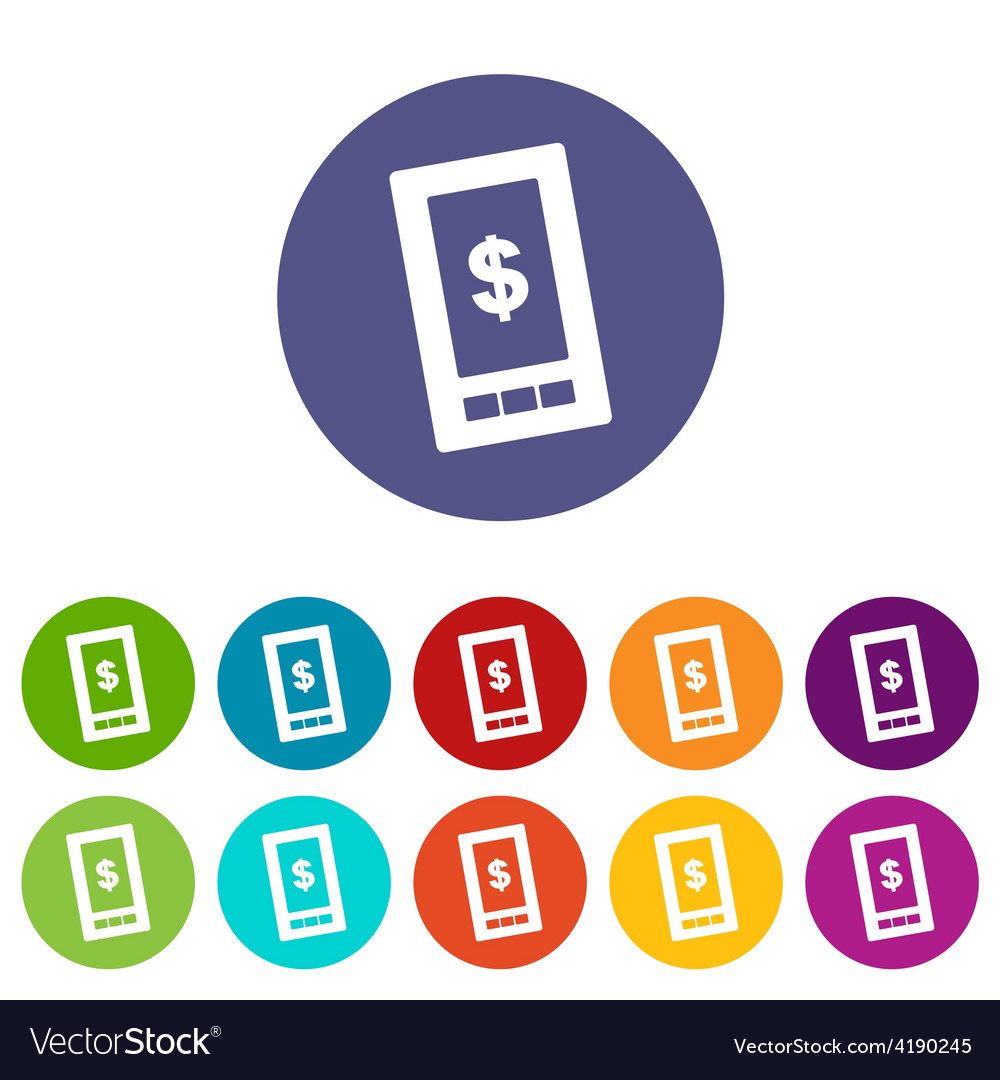 Dollar phone flat icon vector   Price: 1 Credit (USD $1)