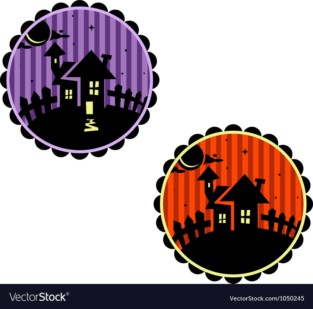 Halloween banners or cupcake toppers vector