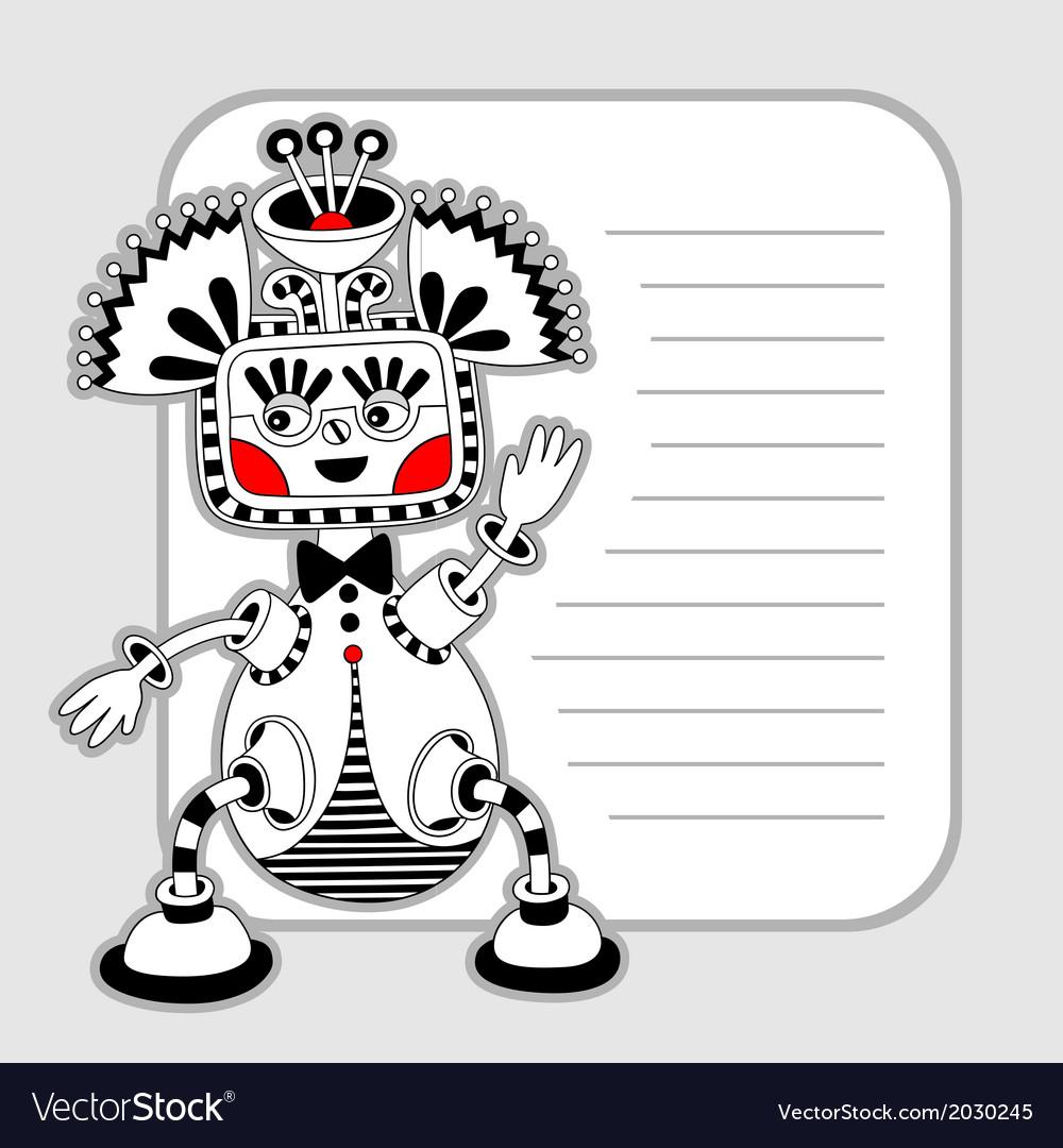 Modern cute ornate doodle fantasy monster vector | Price: 1 Credit (USD $1)