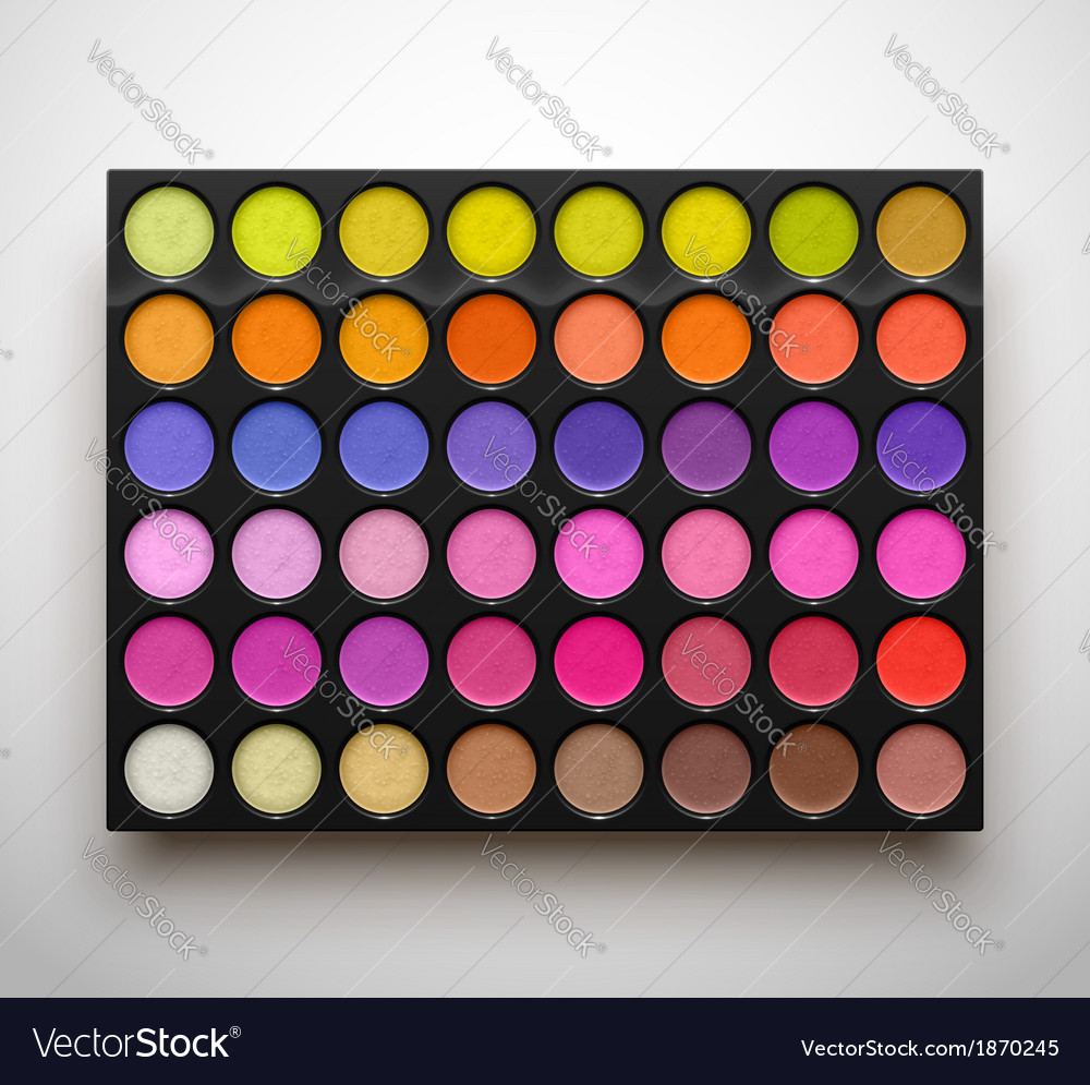 Palette eye shadows vector | Price: 1 Credit (USD $1)