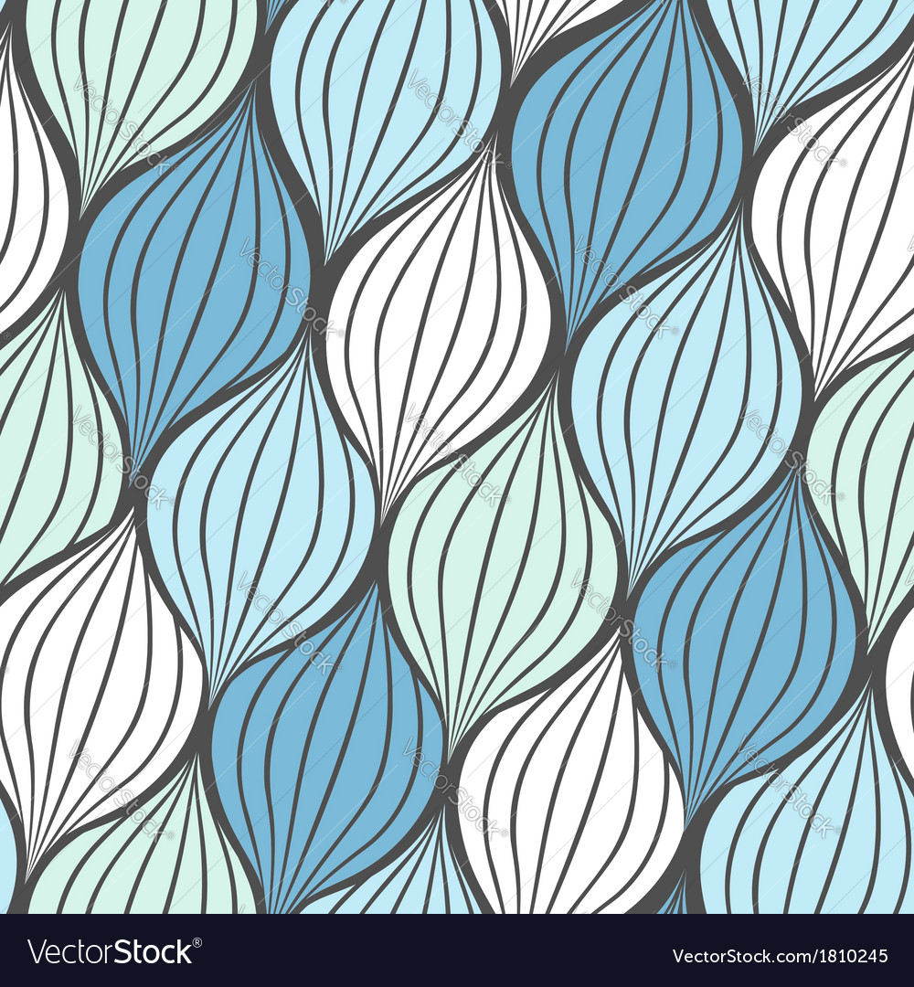 Seamless abstract hand drawn waves pattern vector | Price: 1 Credit (USD $1)