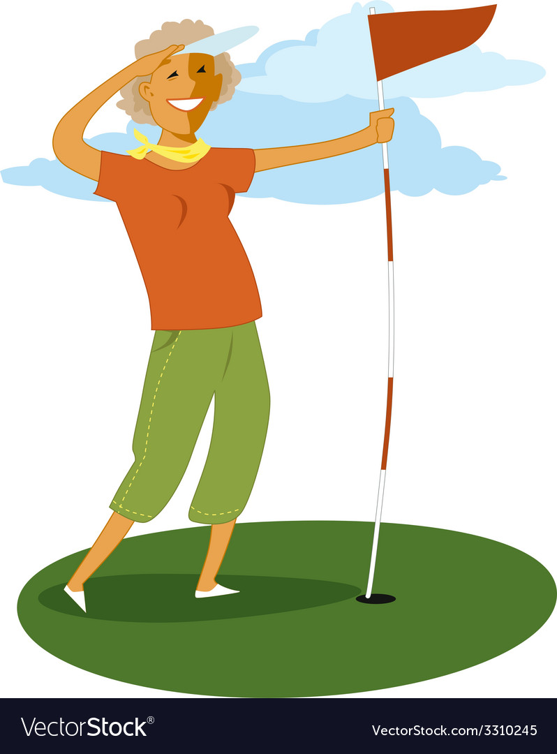 Senior golf vector | Price: 1 Credit (USD $1)