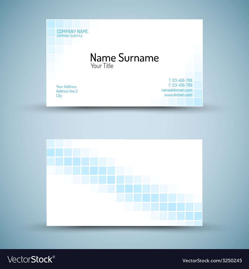 Set of modern business card template vector | Price: 1 Credit (USD $1)