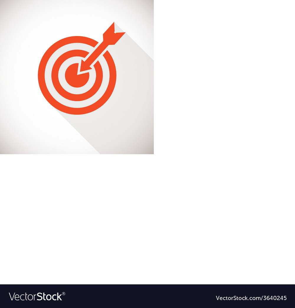 Target icon logo concept with long shadow vector | Price: 1 Credit (USD $1)