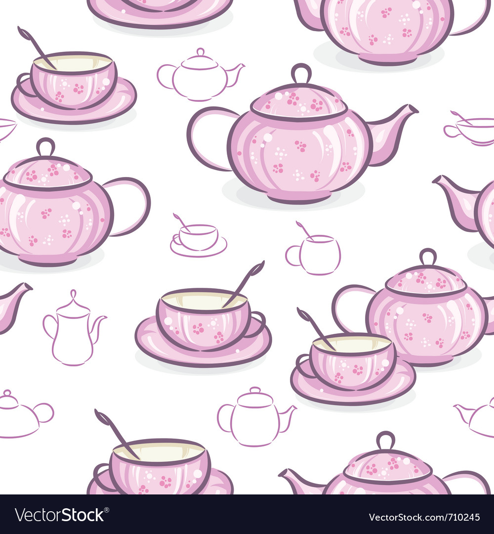 Teapot and cup vector | Price: 1 Credit (USD $1)