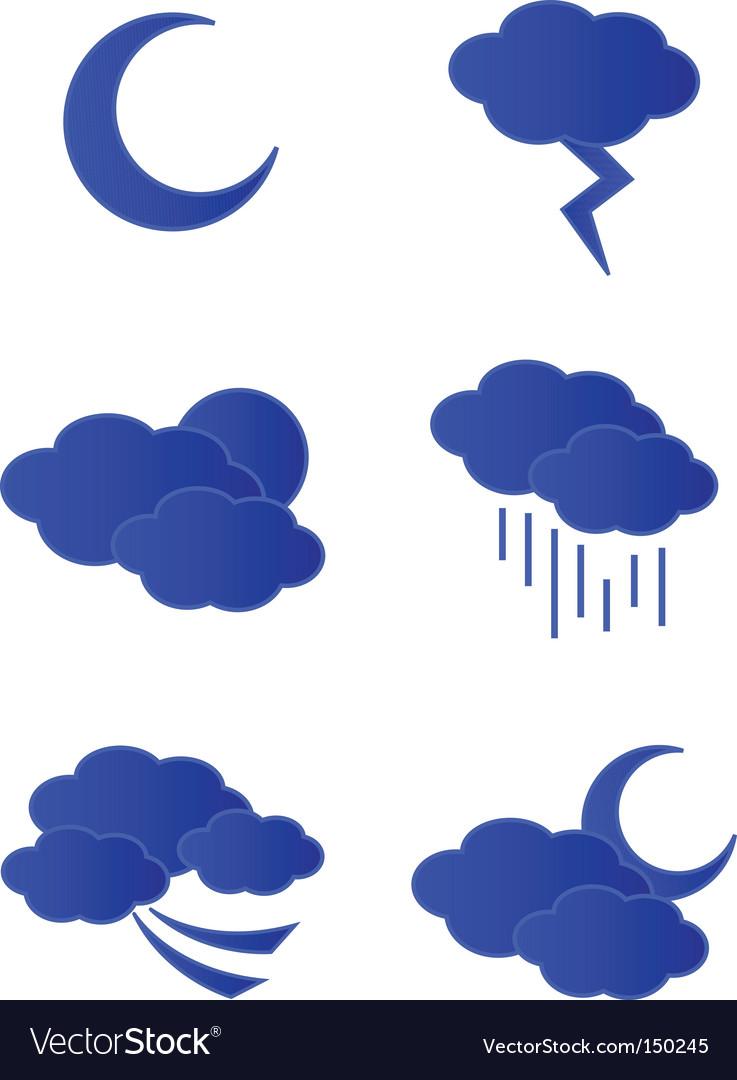 Weather night vector | Price: 1 Credit (USD $1)