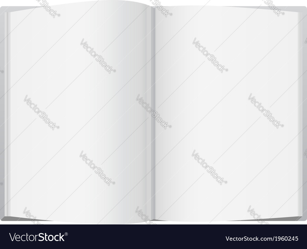 White open book vector | Price: 1 Credit (USD $1)
