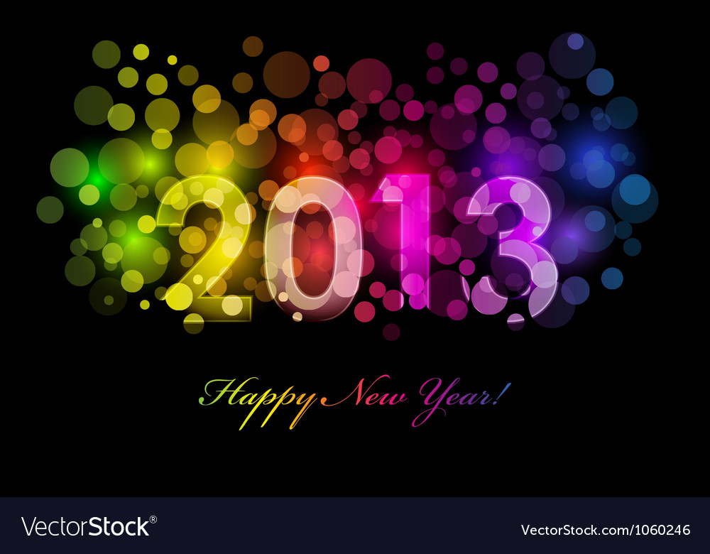 2013 colorful background vector | Price: 1 Credit (USD $1)
