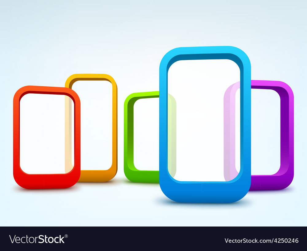 Abstract 3d frames vector   Price: 3 Credit (USD $3)