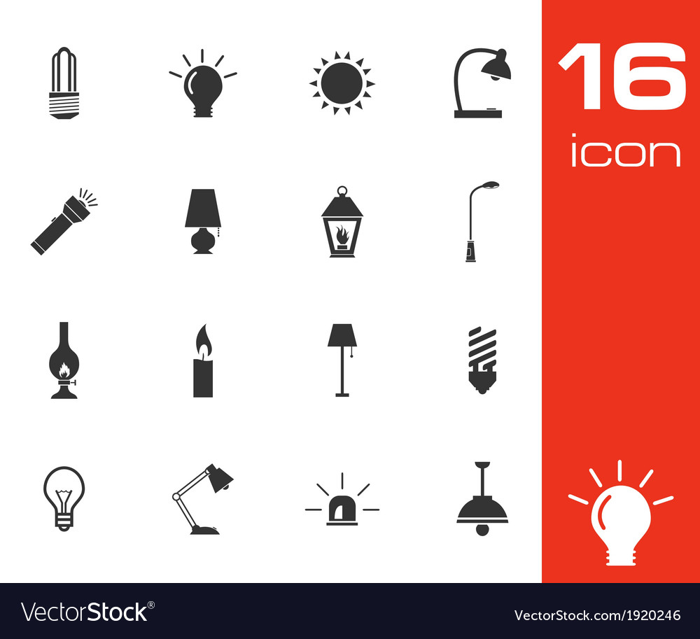 Black light icons set vector | Price: 1 Credit (USD $1)