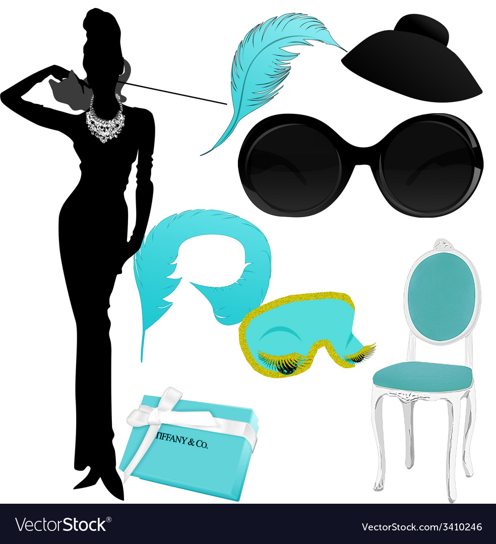 Breakfast at tiffany clipart vector | Price: 1 Credit (USD $1)
