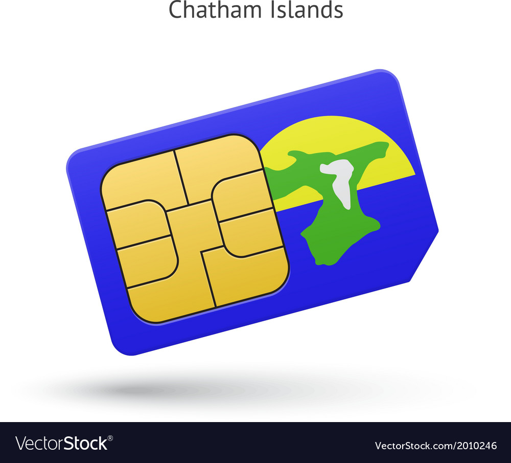 Chatham islands mobile phone sim card with flag vector   Price: 1 Credit (USD $1)