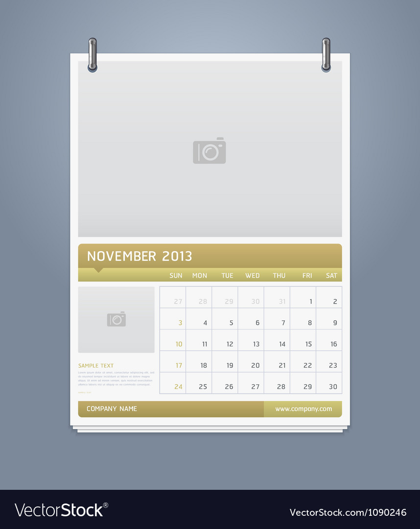 Clean calendar 2013 template design vector | Price: 1 Credit (USD $1)