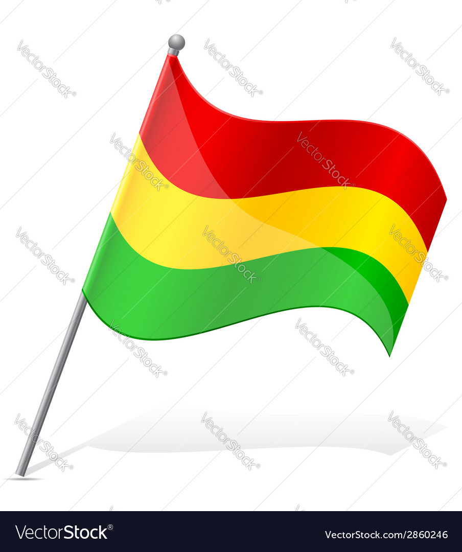 Flag of bolivia vector | Price: 1 Credit (USD $1)