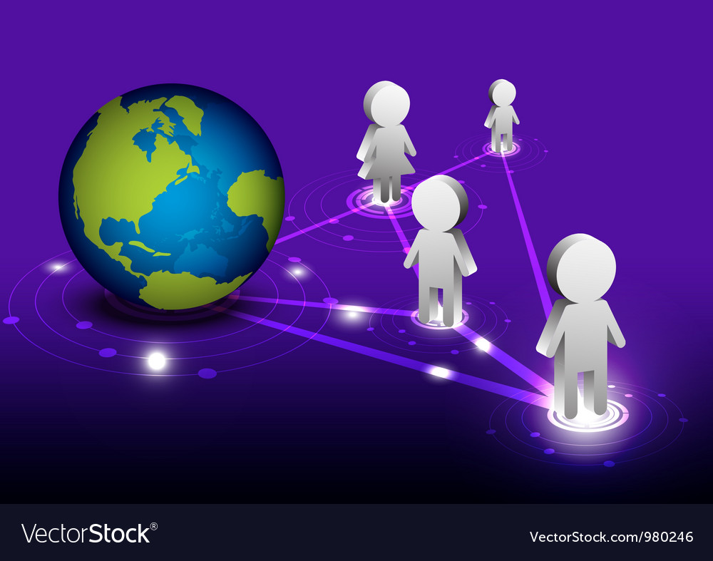 Global network communication vector | Price: 1 Credit (USD $1)