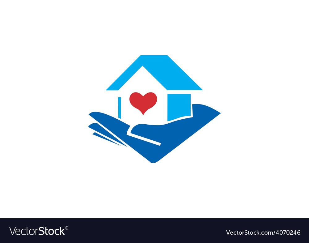 Home love heart logo vector | Price: 1 Credit (USD $1)